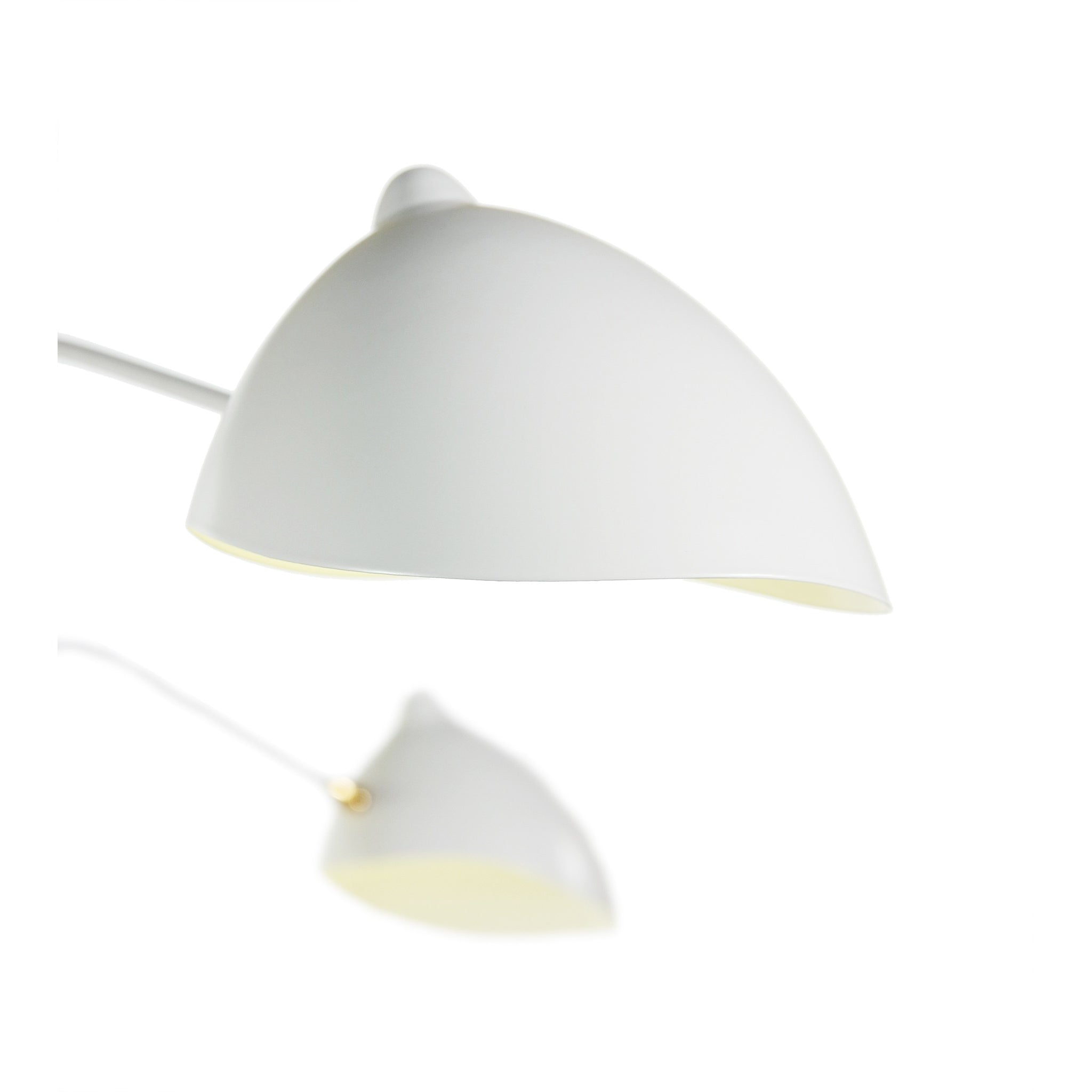 Mid Century 3-Arm Ceiling Light - White