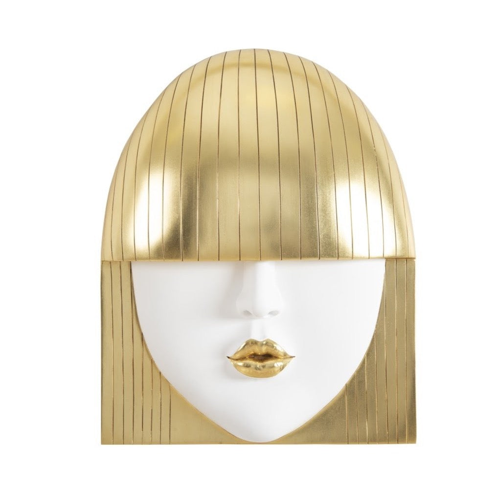 Mina Gold Pout Wall Art