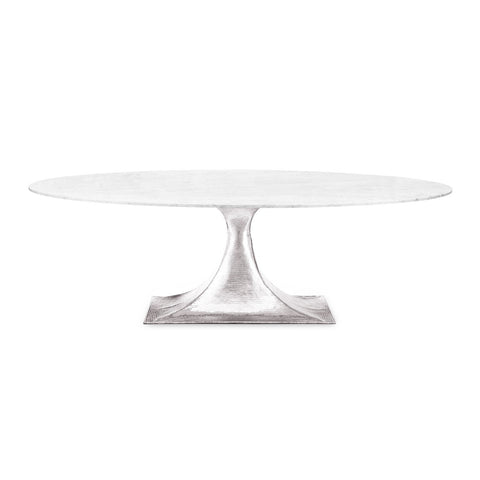 Nickel Repoussé Oval Table