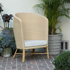 Palm Barrel Chair