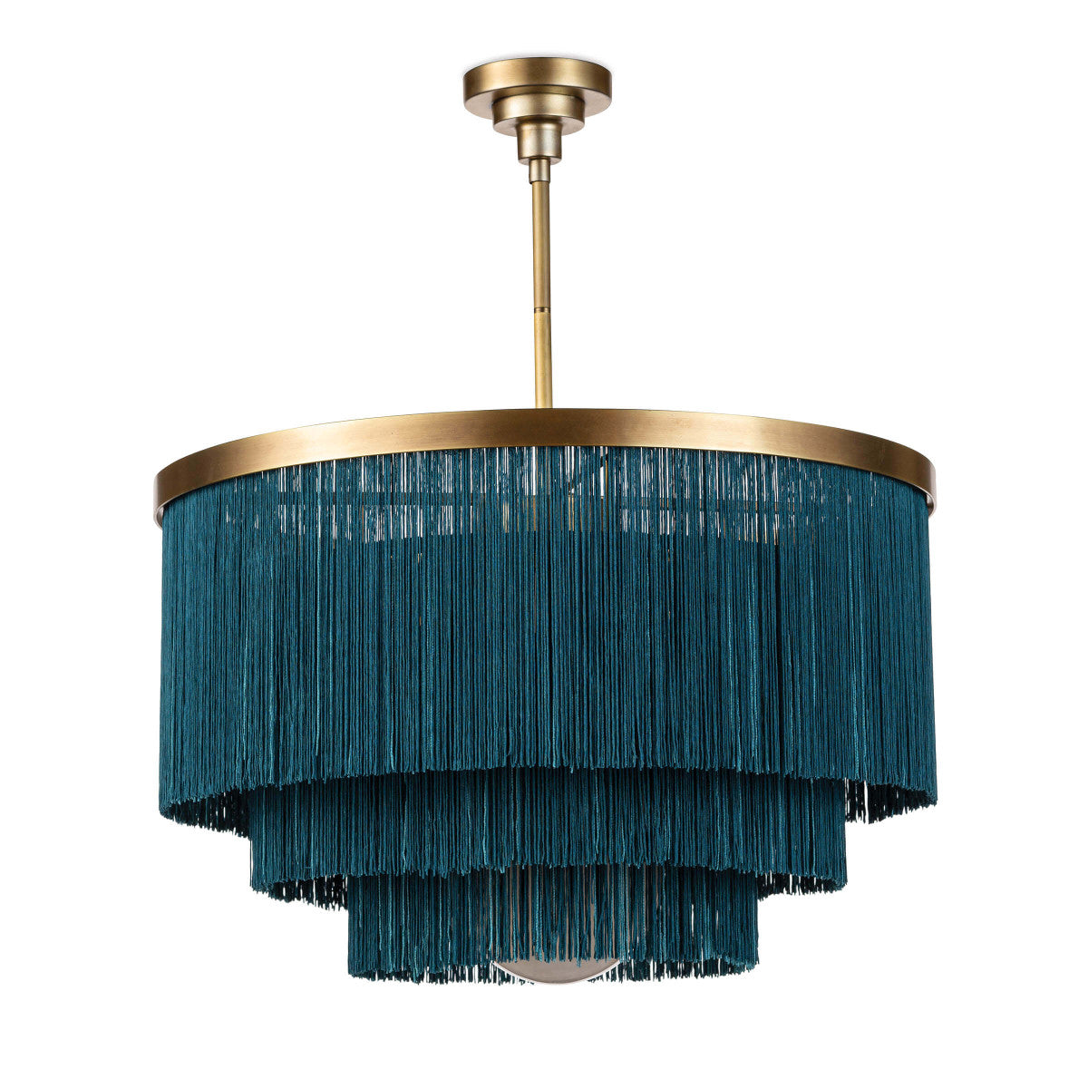 Peacock Fringe Chandelier