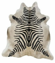 Rustic Zebra on Grey Cowhide