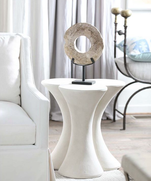 White Trois Accent Table