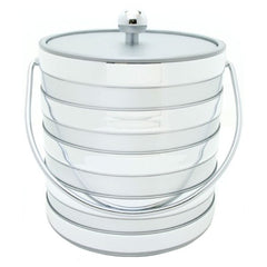 Silver Banded Ice Bucket