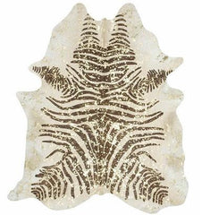 Spotted Gold on Zebra Cowhide