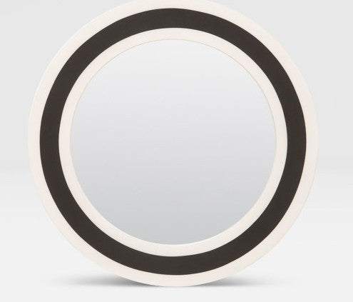 Striped Round B&W Mirror