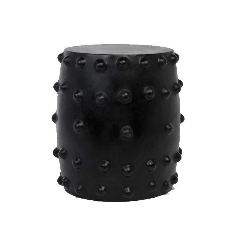 Studded Black Stool
