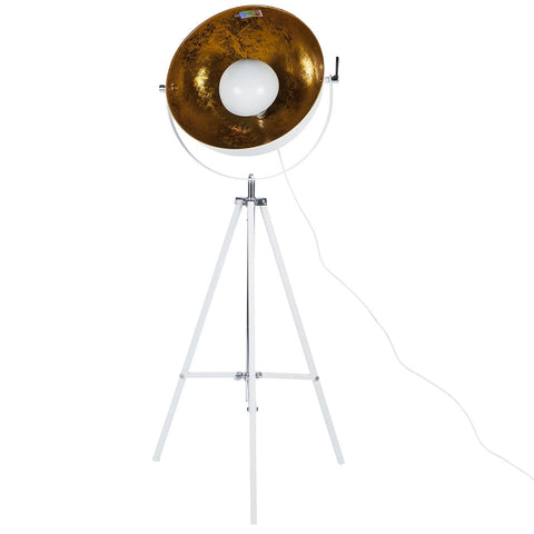 White Hemi Floor Lamp