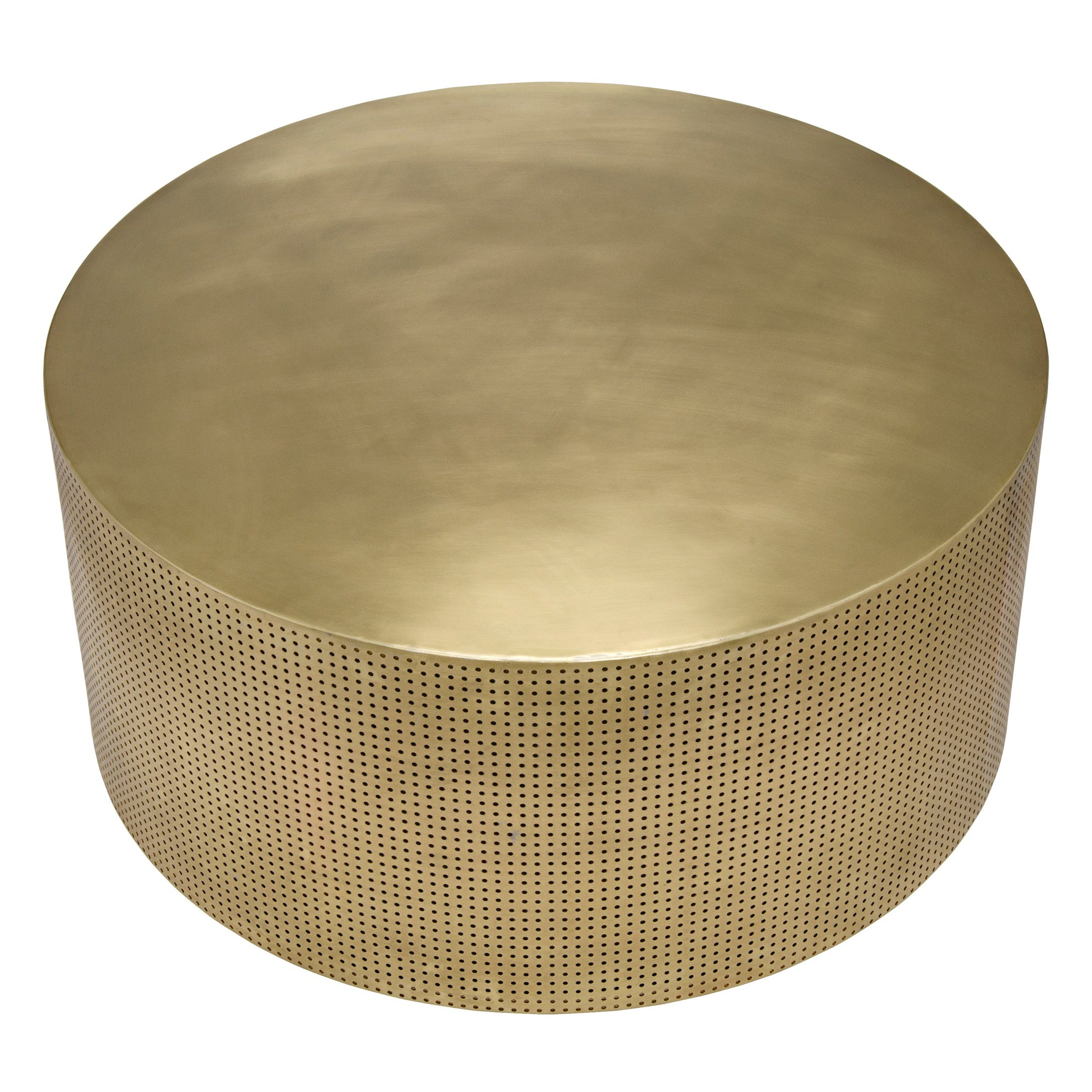 Punched Brass Coffee Table