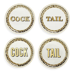Cock/Tail Coaster Set