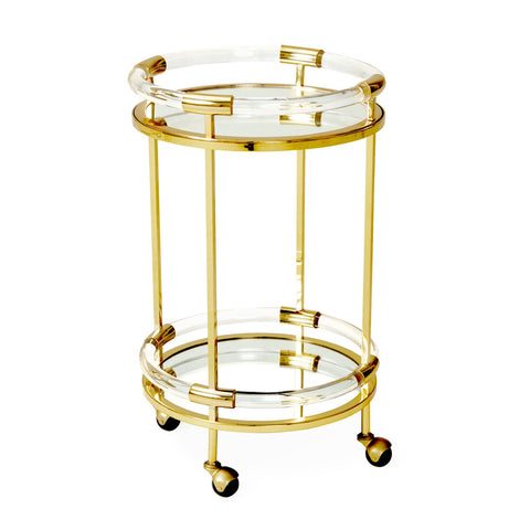 Jacques Round Bar Cart