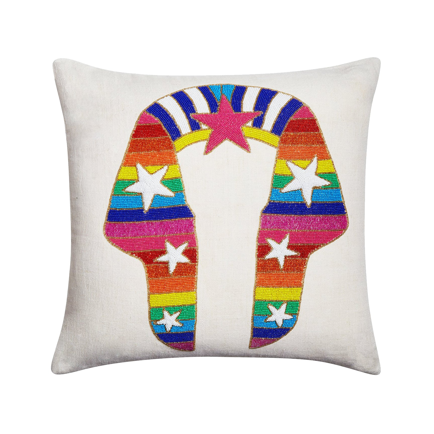 Sphinx Beaded Pillow