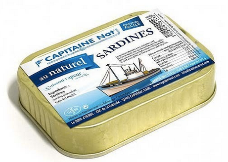 Conserve de Sardines au naturel (Capitaine Nat' - 115g)