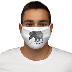 Snug-Fit  Wild Bear Polyester Face Mask