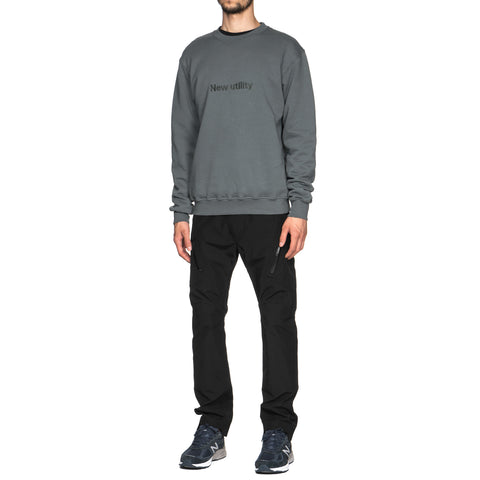 AFFIX New Utility Embroidery Crew Neck Gray