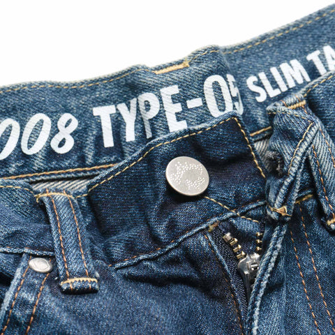 A BATHING APE 1999 Type-05 Damaged Denim Pants Indigo