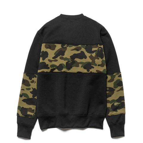 a bathing ape 1st Camo Bape Wide Crewneck Green