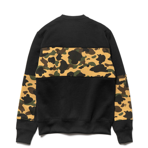 a bathing ape 1st Camo Bape Wide Crewneck Yellow