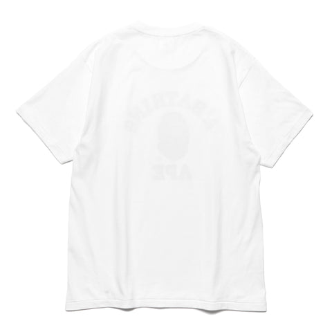 a bathing ape Pigment College Tee White
