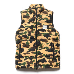 a bathing ape 1st Camo Down Vest Yellow