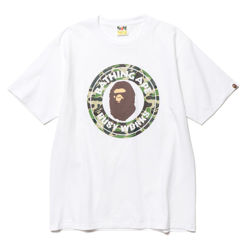 A BATHING APE ABC Busy Works Tee White/Green