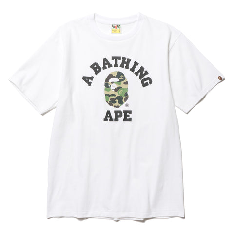 A BATHING APE ABC College Tee White/Green