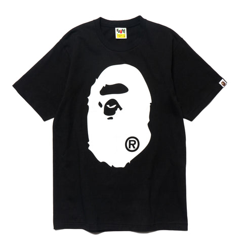 a bathing ape Bicolor Big Ape Head Tee Black
