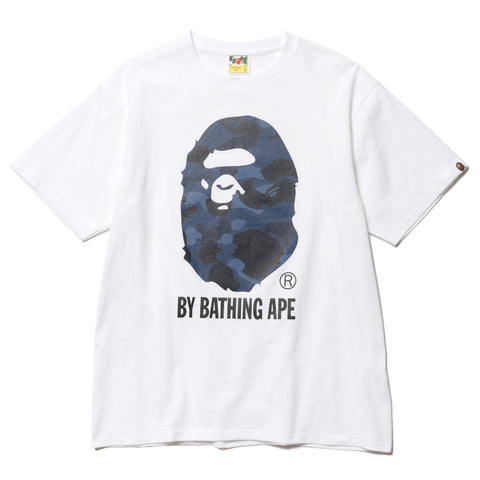 A BATHING APE Color Camo By Bathing Tee White/Navy