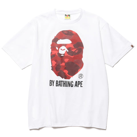 A BATHING APE Color Camo By Bathing Tee White/Red