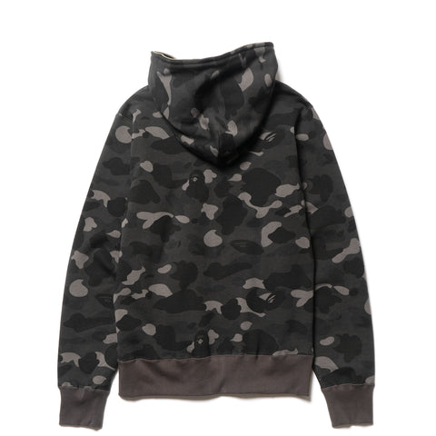 A BATHING APE Color Camo Full Zip Hoodie Black