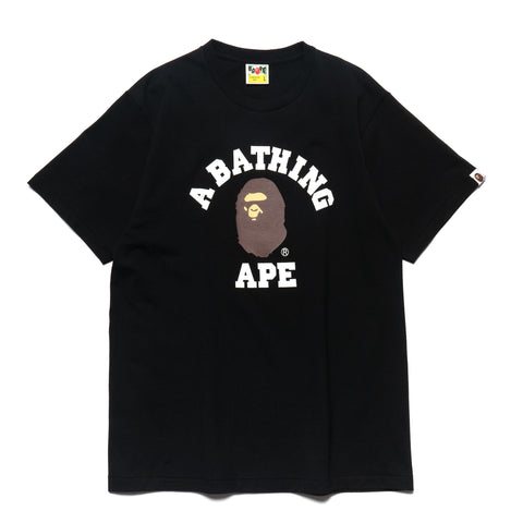 a bathing ape Pigment College Tee Black