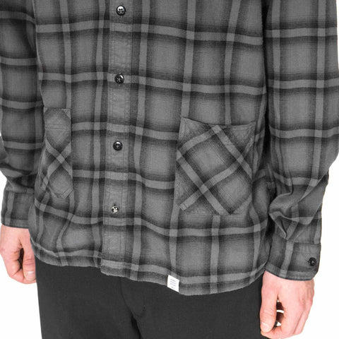"Bedwin ""Falco"" L/S Waist Pocket Shirt FD Gray"