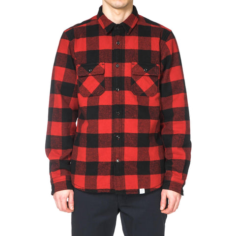 "Bedwin & the Heartbreakers ""Shannon"" L/S Boa Shirt Red"