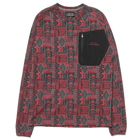 BURTON THIRTEEN Qaletaqa LS Tee Red