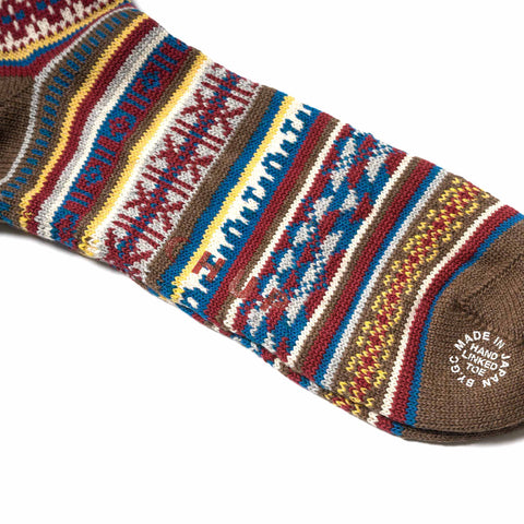 CHUP TABIAT Socks Brown
