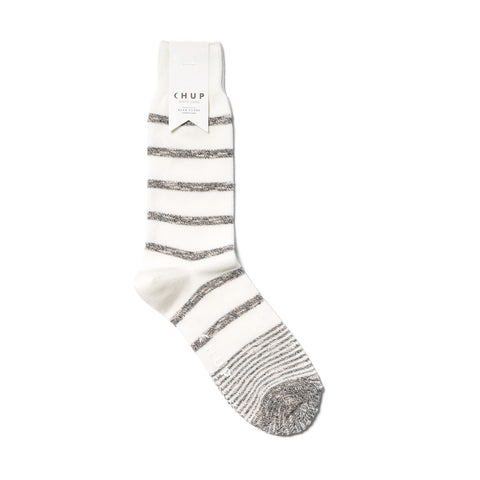 Chup White Label Mellow Border Sock White/Gray