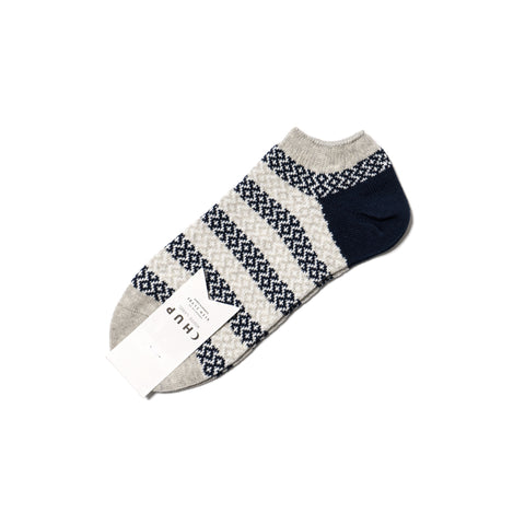 Chup White Label Mosaic Border Ankle Sock Gray