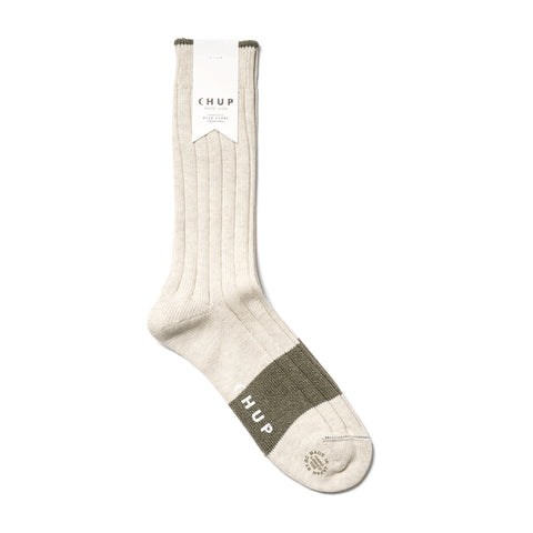 chup White Label Varsity Block Sock Oatmeal