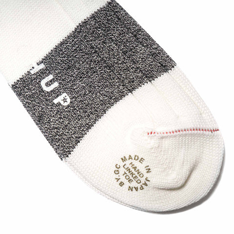 chup White Label Varsity Block Sock White