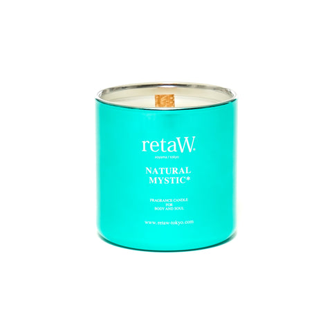 retaW Fragrance Candle Metallic Series Natural Mystic