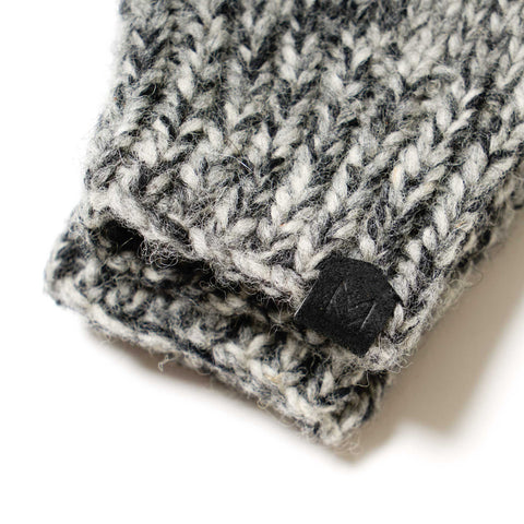 Maple Canadian Knit Mitten Heather Gray