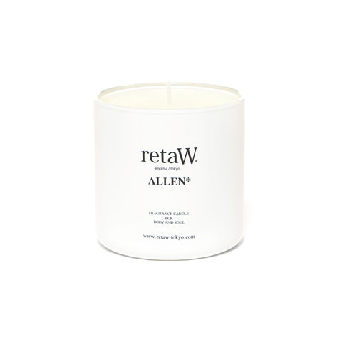 retaW Fragrance Candle Allen White