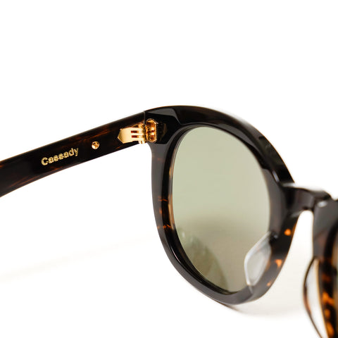 """Cassady"" Sunglasses Gasoline / 16K Gold"