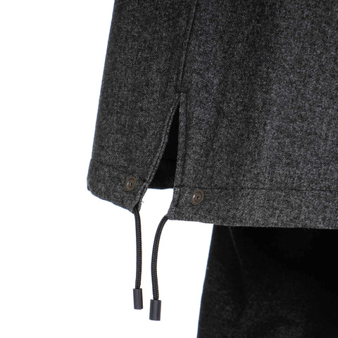 n.hoolywood collarless fishtail coat