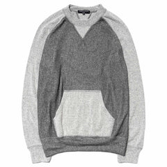 comme des garcons homme Cotton Double Sided Pile Sweater Gray/Natural