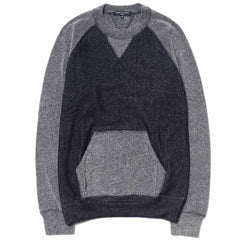 comme des garcons homme Cotton Double Sided Pile Sweater Navy/Gray