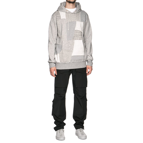 Comme des Garçons HOMME Cotton Fleece Mixed Panel Hoodie Gray
