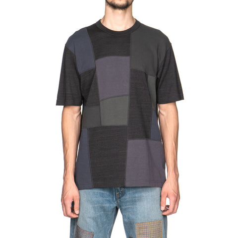 Comme des Garçons Cotton Mixed Panel Tee Charcoal
