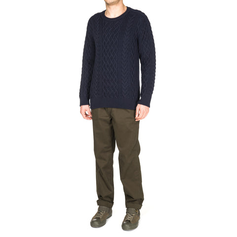comme des garcons homme Wool Cord Aran Pattern x Lamb Jersey Sweater