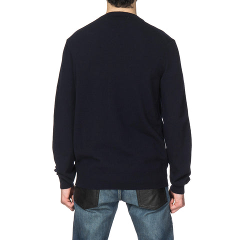 comme des garcons play Red Emblem Knit Sweater Navy